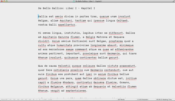 IA Writer Focus Mode Off