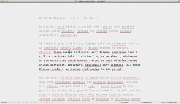 IA Writer Focus Mode On