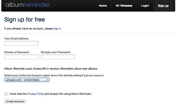 Album Reminder register
