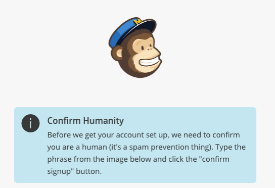 Are You A Human MailChimp