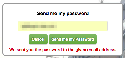 Sent Me Password Successfully