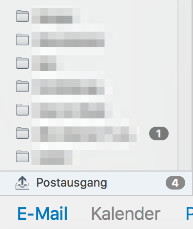 Postausgang Counter Outlook Mac 2016