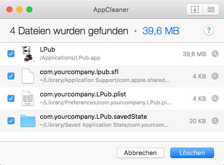 AppCleaner-LPub-Deinstallation